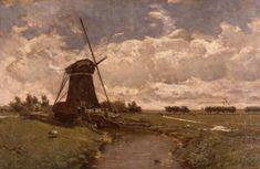 Constantin Gabriël - Watermolen in de polder 'De Leidsche Dam' 1864