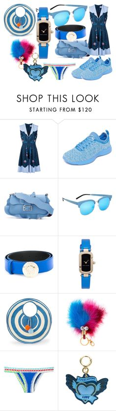 """""""fashion for your time"""" by denisee-denisee ❤ liked on Polyvore featuring Preen, Athletic Propulsion Labs, Fendi, Matthew Williamson, Versace, Marc Jacobs, Sophie Anderson, Sophie Hulme, kiini and Burberry"""