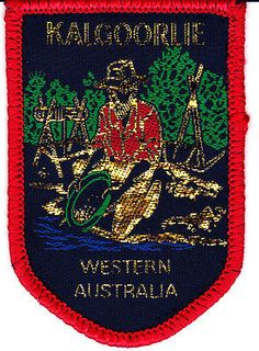 Souvenir cloth patch - Kalgoorlie W.A.