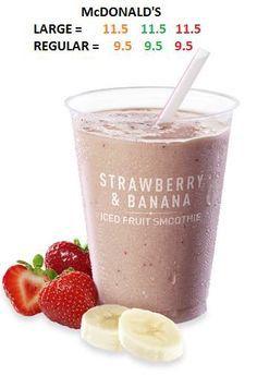 McDonald's strawberry and banana syns