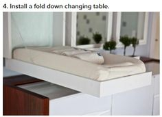 foldout changing table