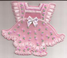 Petite robe fleurie dentelle de papier
