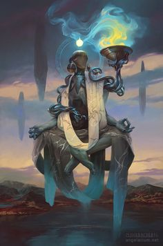 Phanuel, Angel of Truth by PeteMohrbacher.deviantart.com on @DeviantArt