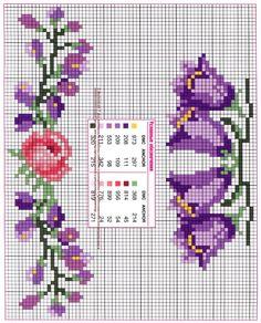 Вышивка крестом - 50 схем цветов и композиций