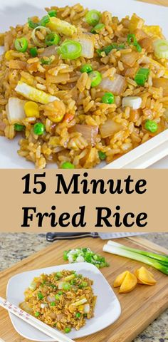 Make this part of your weekly dinner rotation! via Pear Tree Kitchen Easy Chinese fried rice recipe. Make this part of your weekly dinner . Wok Recipes, Easy Rice Recipes, Healthy Diet Recipes, Healthy Meal Prep, Asian Recipes, Cooking Recipes, Minute Rice Recipes, Rice Recipes For Dinner, Bacon Recipes