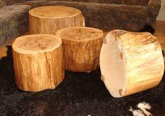 Baumstamm als Couchtisch Beistelltisch Hocker - Boholz - Beistelltische - Möbel - DaWanda