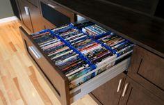 Various cool dvd storage ideas : modern media room dvd blu ray cd storage d