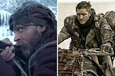 Hypervigilant. Connected in Survival Mode. Tom Hardy in The Revenant [left], Mad Max [right].