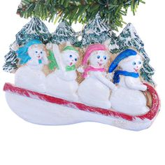 Christmas ornament personalized snowmen for a by Christmaskeeper, $14.95
