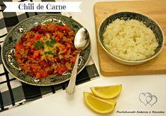 Partilhando Sabores e Receitas: Chili de Carne