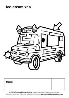 www.skidaddlegames.com.au Printable Mazes, Ice Cream Van, Activities, Fictional Characters, Fantasy Characters