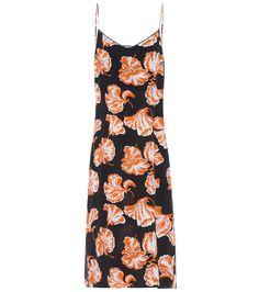 Ganni Geroux floral-printed silk slip dress