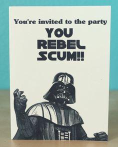 Star Wars Darth Vader invitation - birthday - anniversary - wedding - party