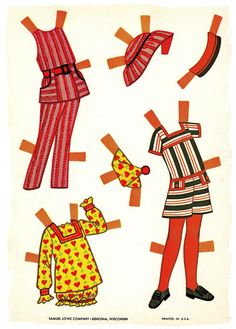 PLAYHOUSE DOLLY Cut-Outs c. 1960s from Samuel Lowe Company <> JO <> 6 of 6