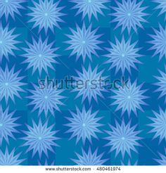 Repeating geometric elements. Vector seamless pattern. Modern stylish blue texture.