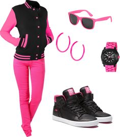 """Pink and sporty :)"" by mandijoe95 on Polyvore"