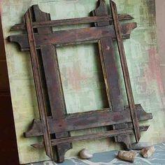 vintage frame....  tramp art... Home Decor...  Feb by CoolVintage, $27.50