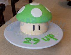 Nintendo Mushroom Birthday Cake