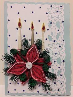 Handmade Greetings, Greeting Cards Handmade, Quilling Christmas, Quilling Patterns, Paper Quilling, Projects To Try, Winter, Christmas Wreaths, Winter Time