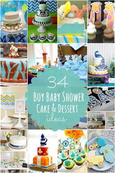 boy baby shower cakes and desserts