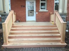 Cedar porch Carpentry Projects, Porch, New Homes, House Ideas, Stairs, Frame, Home Decor, Style, Balcony