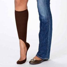 """These awesome """"invisible"""" socks will keep your legs warm with summer flats."""