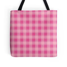 """""""Buffalo plaid in baby pink. Classic pattern."""" Tote Bags by linepush 