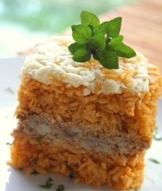 Pastelón de Arroz con Pollo (Chicken and Rice Casserole)