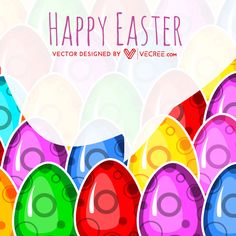 Colored Easter Eggs For Easter Festival Free Vector Download - https://vecree.com/3676988/colored-easter-eggs-for-easter-festival-free-vector-download/