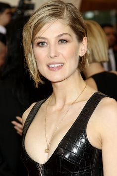 Rosamund Pike With A Short Wet-Look Bob