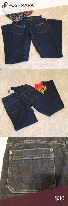 Michael Kors denim jeans Size 6 Michael Kors denim jeans, 98% cotton, 2% spandex, straight leg. MICHAEL Michael Kors Jeans Straight Leg