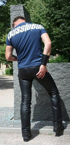 Leather jeans : feel the Leather , so nice !