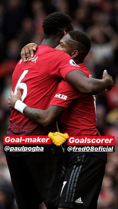 Pogba and Fred🤗🤗🤗🙌 Paul Pogba, Football Players, Manchester United, The Unit, Goals, Red, Soccer Players, Man United