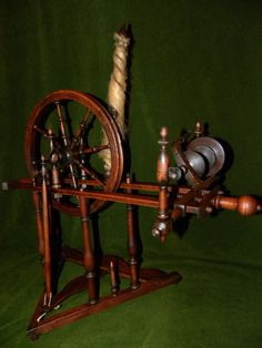 French Antique Spinning Wheel from Brittany 19 TH Century