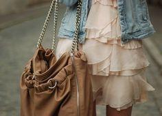 pale pink & jean jacket <3