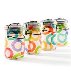 DIY Fabric Styled Solar Jar Lantern | Awesome Patio Lights~~Crafts from putitinajar.com + mason jars, mason jars, mason jars.