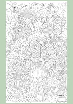 Supersized Colouring Picture: In the Forest. Because sometimes even 'adults' need time out colouring: