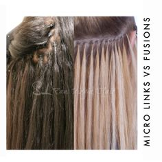 Here's a quick guide on the two most popular methods for semi-permanent hair extensions - Micro Links vs. Fusion Hair Extensions. Avaiable to read more at www.slrawvirginhair.com Micro Extensions, Permanent Hair Extensions, Hair Extensions Tutorial, Fusion Hair Extensions, Dreadlock Extensions, Virgin Hair Extensions, Latest Hair Trends, One Hair, Hair Blog