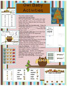Owl Babies | Ilovekindergarten  Links to Owl Babies activities on TPT as well as FREEBIE.