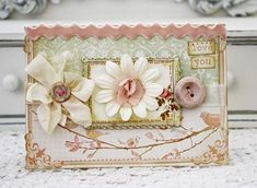 Sweet & Shabby Card...by Melissa Phillips (LilyBean's Paperie)