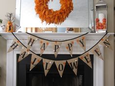 Happy Halloween Banner by RaynaLaneinc on Etsy, $30.00
