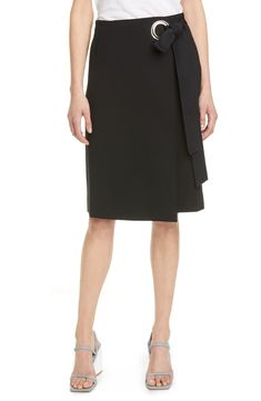 A silvertone grommet highlights the wrap styling of a work-to-weekend skirt made from a shape-holding bonded stretch knit. Style Name:Tibi Bond Stretch Knit Wrap Skirt. Style Number: Available in stores. Skirts For Sale, A Line Skirts, Women's Skirts, Floral Pleated Skirt, Tweed Pencil Skirt, Maternity Skirt, Knit Wrap, Ribbed Sweater, Ripped Skinny Jeans