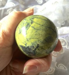 Serpentine Sphere for Inner Peace! Beautiful Green Serpentine from Peru! by shspirithouse on Etsy