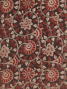 Ethnic weaves in earthy hues Ajrakh Prints, Kalamkari Fabric, Kalamkari Designs, Indian Crafts, Flower Backgrounds, Bird Art, Printing On Fabric, Pattern Design, Floral Prints