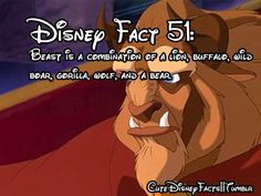 Disney facts - I always wondered what the beast really was Walt Disney, Cute Disney, Disney Magic, Creepy Disney, Disneyland Secrets, Disney Secrets, Disneyland Resort, Funny Disney Memes, Disney Quotes