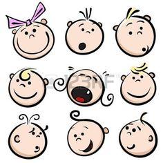 47 Ideas Baby Face Drawing Cartoon For 2019 Cartoon Faces, Cartoon Icons, Baby Cartoon, Cartoon Kids, Baby Face Drawing, Simple Face Drawing, Drawing For Kids, Disney Drawings, Cartoon Drawings