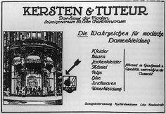 Kersten & Tuteur. Seit 1913 befand sich hier das acht Jahre zuvor gegründete Modehaus von Jacob Tuteur (1879-1939) und Willi Kersten (1879-1934). Hauptsitz, Verwaltung, Werkstätten und Verkaufsräume waren über das Gebäude verteilt. Berühmt waren die gewagten Dekorationen und eindrucksvollen Modevorführungen der Firma. Willi Kersten starb 1934. Jacob Tuteur wirtschaftlich ruiniert durch Boykott-Aufrufe der Nationalsozialisten, musste seine Firma zwangsverkaufen und sah sich in den Selbstmord…