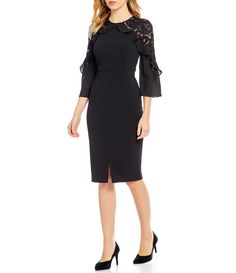 Shop for Ivanka Trump Lace Trim Scuba Crepe Midi Sheath Dress at Dillards.com. Visit Dillards.com to find clothing, accessories, shoes, cosmetics & more. The Style of Your Life.