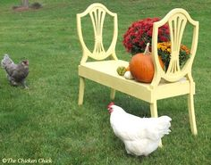 upcycled furniture   Upcycled: Furniture / Upcycled Chair Backs into Bench, by The Chicken ...