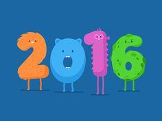 Funny Happy New Year 2017 gif animation